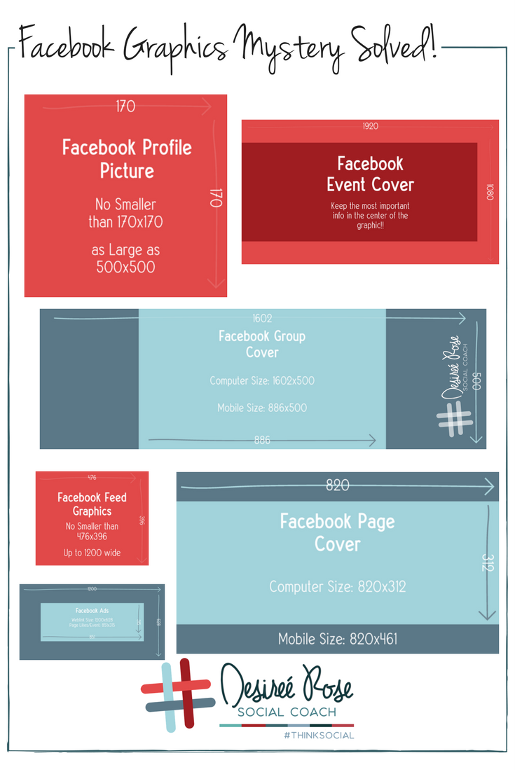 We compiled all the important Facebook image sizes for your direct sales business to help you maximize your graphics!