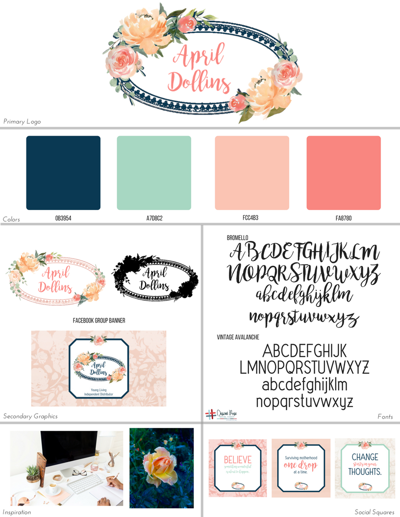 April Dollins Branding Board