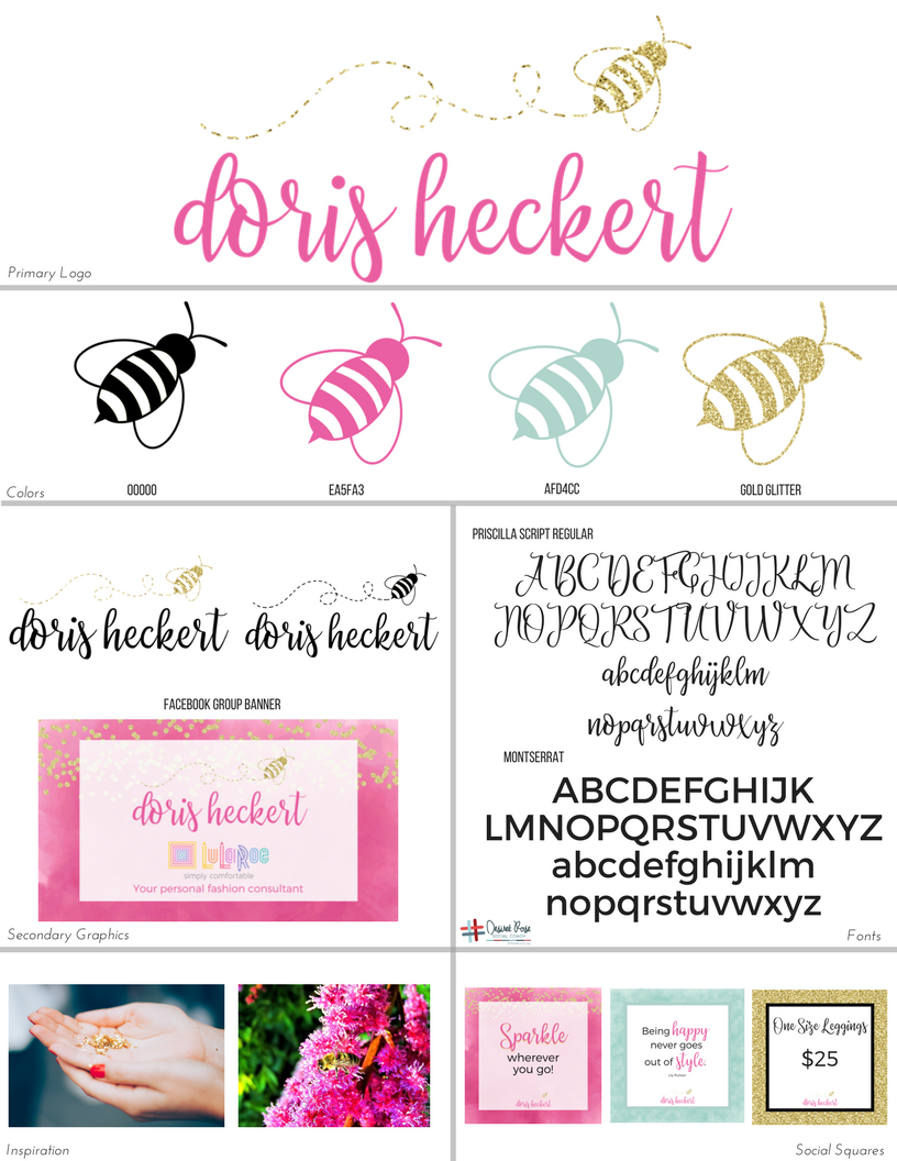 Doris Heckert Branding Board