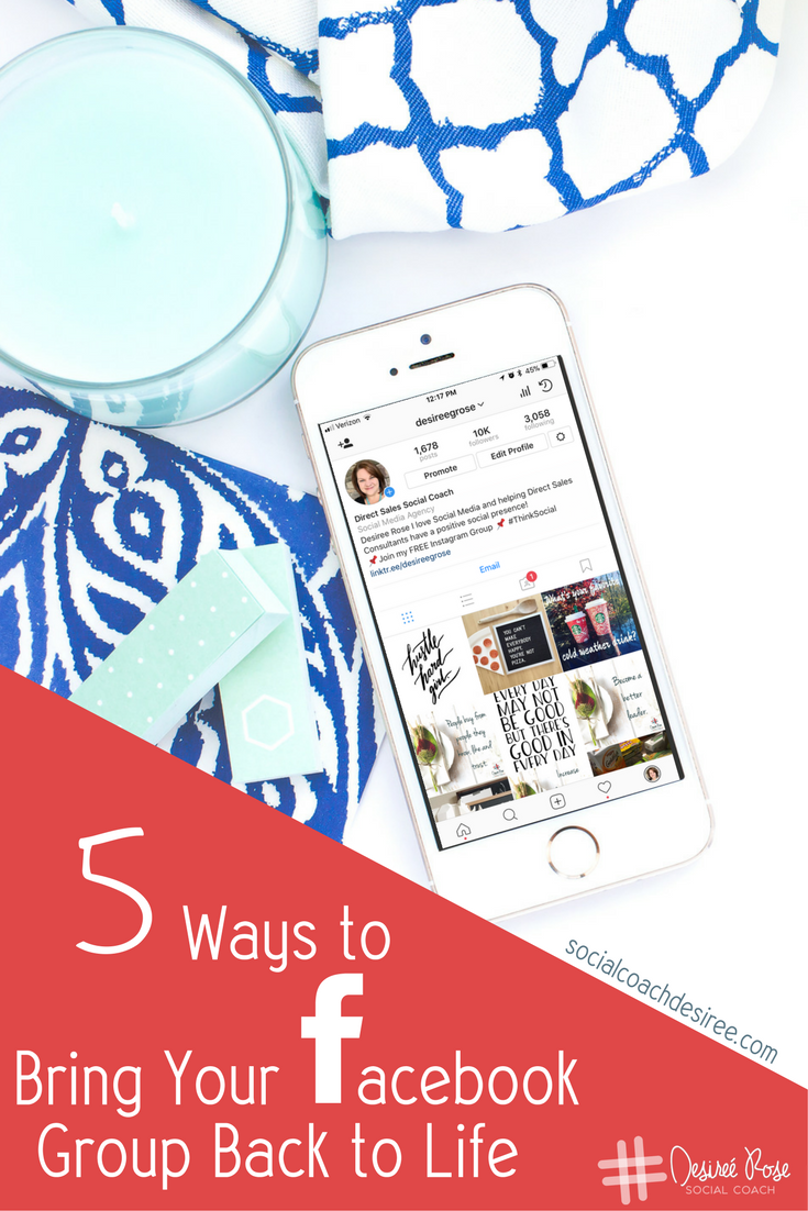 Is your Facebook Group dying? Check out these 5 rocking ways to bring your Facebook Group back to life and increase your engagement!