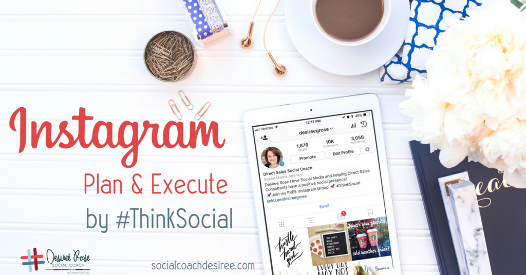 Instagram plan and execute