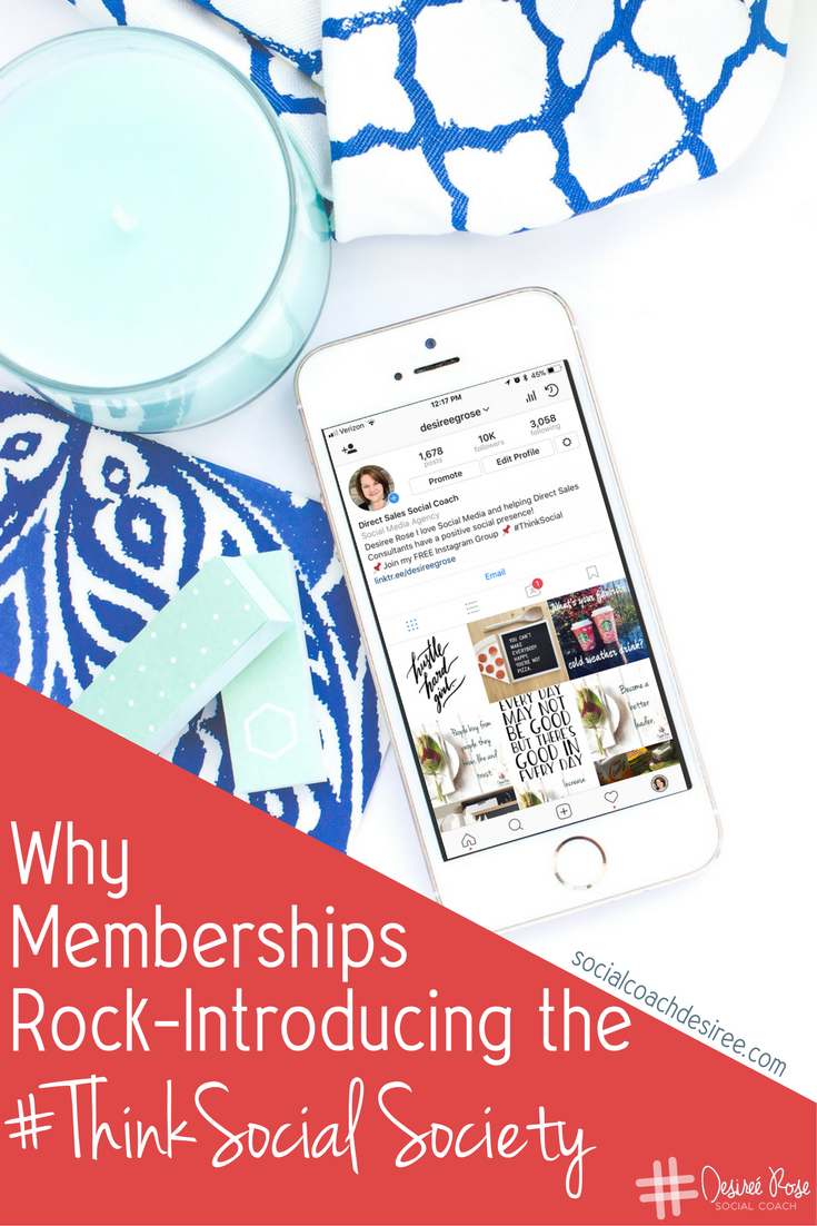 Memberships take the online world to a deeper level of community. And doing business on social media should be about relationships as well.