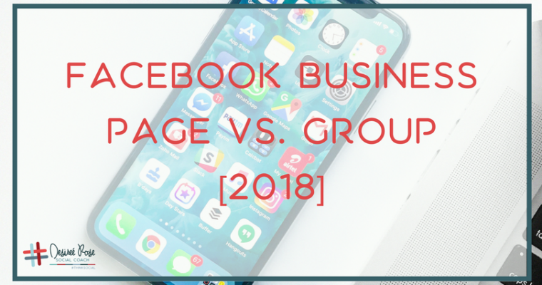 Business Page Vs. Group