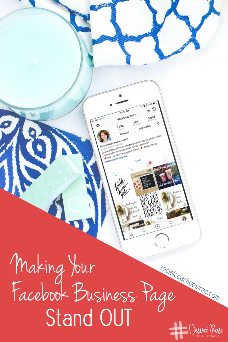 Want to stand out above and beyond your competition?  Having an amazing Facebook Business Page is one way to do that!  Here is a simple way to take your business page from okay to amazing in just a few minutes!