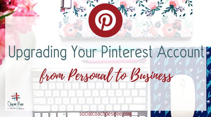 Take your Pinterest to the Next level by upgrading to a business account.