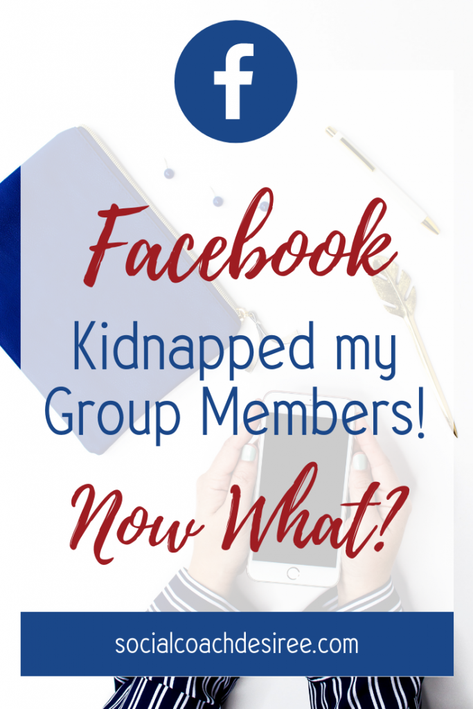 Facebook kidnapped my group members!! Now what??